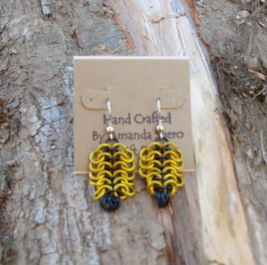Flat Chainmaille Earrings