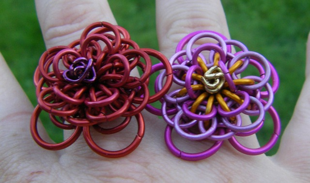 Chainmaille Dahlia Ring By Amanda