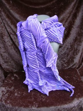 Purple Double Feather Shibori Scarf