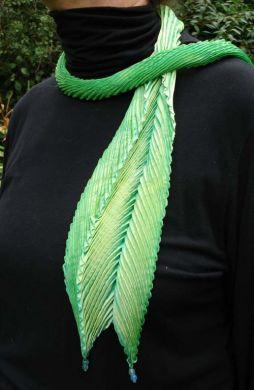 Green Shibori Scarf