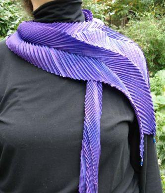 Purple Shibori Scarf