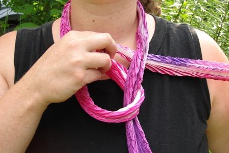 How to Tie a Shibori Scarf