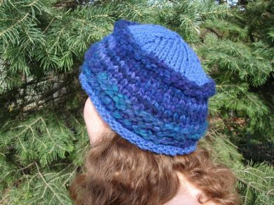 Blue & Purple Knit Hat