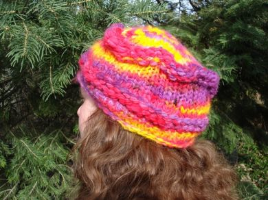 Carnival Colors Knit Hat